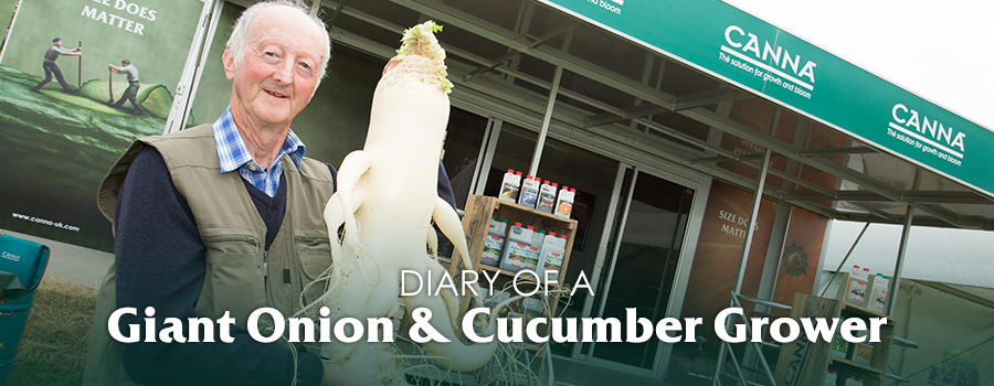 Campaign: Diary of a Giant Onion & Cucumber Grower Peter Glazebrook