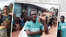 Organic farming in Africa supported by CANNA
