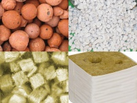 Rock wool and other inert substrates